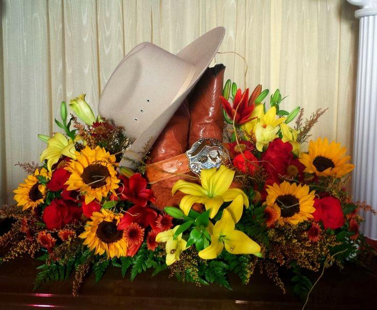 Western Memorial Flowers Cowboy Memorial Flowers Funeral
