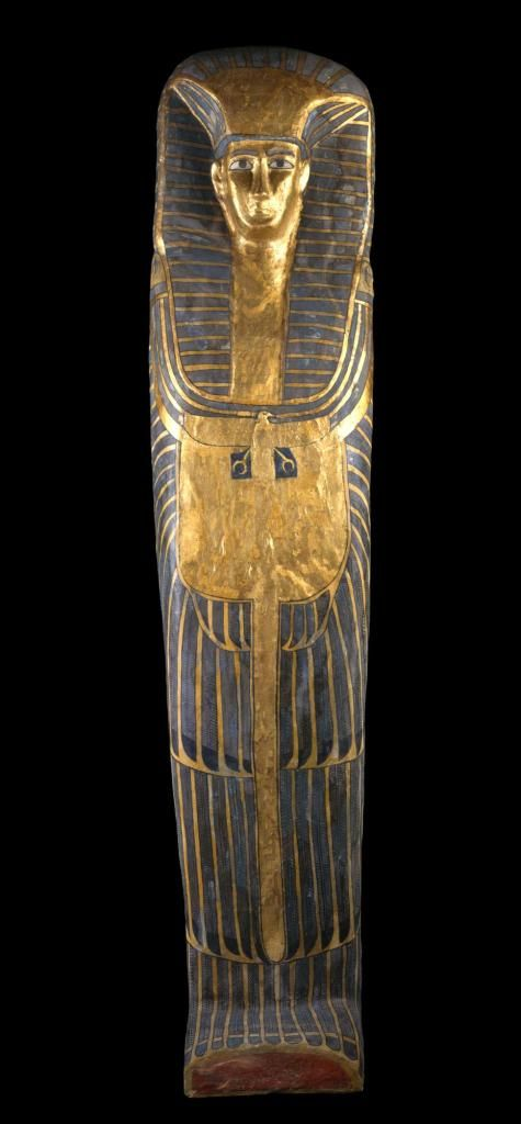"""Coffin of queen, probably a """"Great Royal Wife"""", found at Qurna - Royal Museum of Edinburgh - http://www.nms.ac.uk/explore/collections-stories/world-cultures/ancient-egypt/qurna-burial/"""