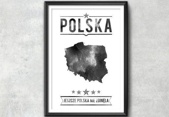 Poland Typography Print, Poland Poster, Poland Wall Art, Poland Gift, Poland…