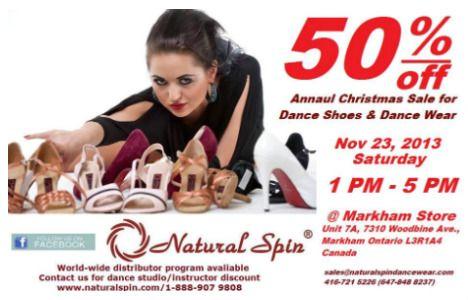 Natural Spin Dancewear Christmas Sale - TorontoDance.com