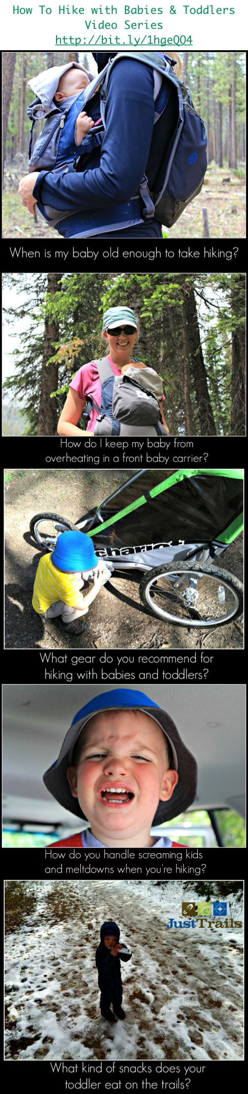 Frequently asked questions about hiking with babies & toddlers.