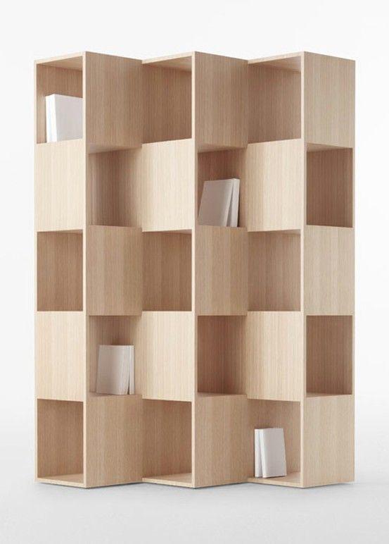 Bookcase / nendo. With crates