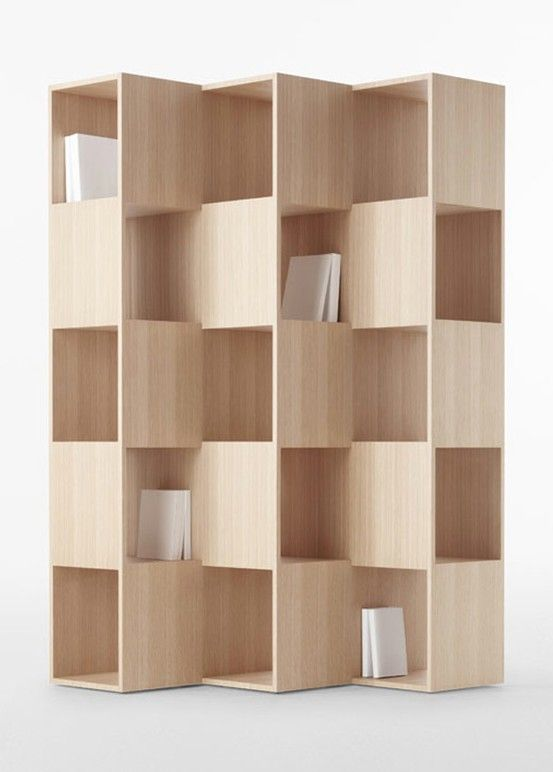 Fold Wooden Bookshelves By Nendo For Conde House