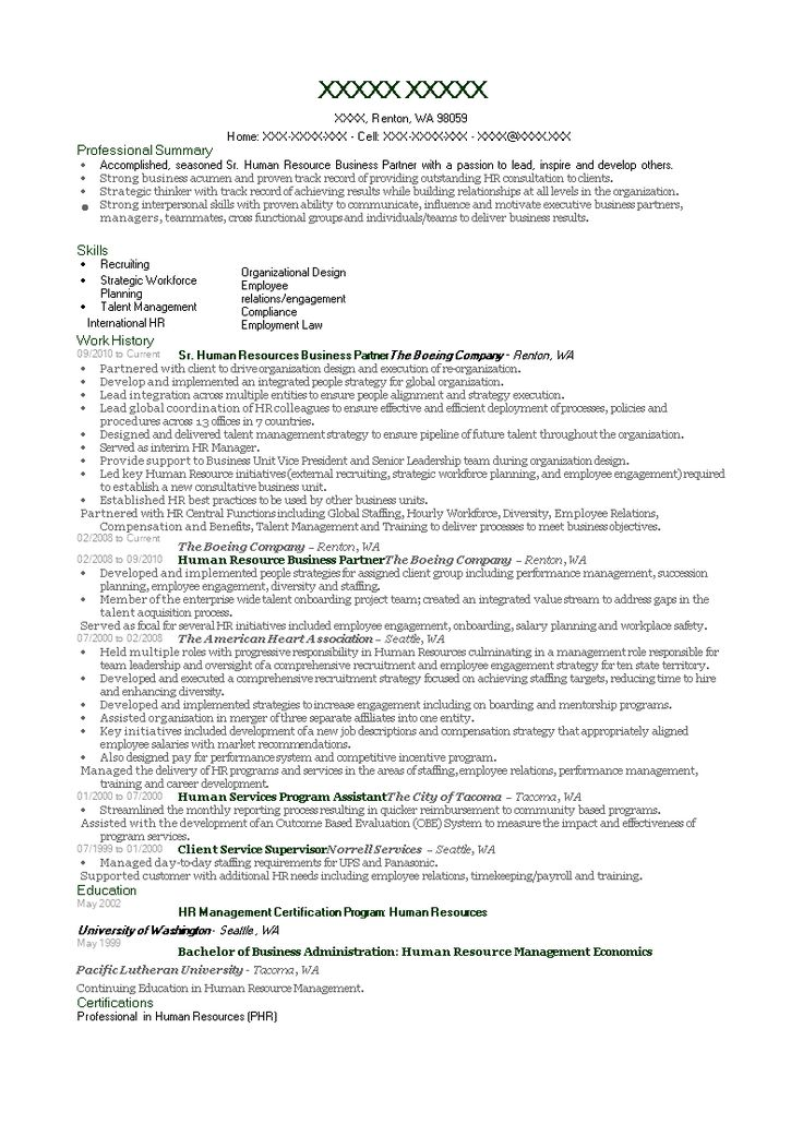 Hr business partner resume how to create a hr business