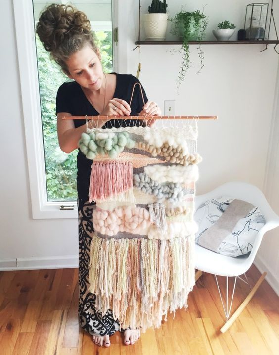 My First Woven Wall Hanging | going home to roost