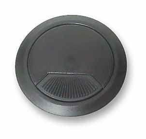 Single Desk Cable Grommet - Black - 60mm L-M20004-BL-A