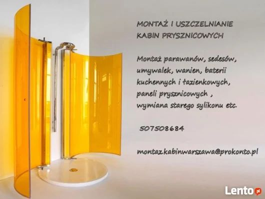 Montaż kabin prysznicowych Wawer Wesoła Anin Radość