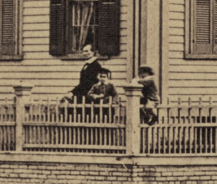 closeup of Springfield, Illinois, Abraham Lincoln at his home, 1860, historic photo, by John Adams Whipple
