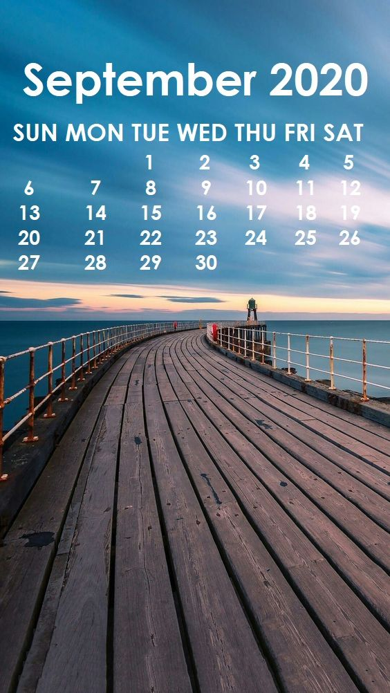 September 2020 iPhone Wallpaper Calendar wallpaper
