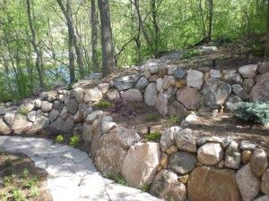 17 best ideas about Boulder Retaining Wall on Pinterest