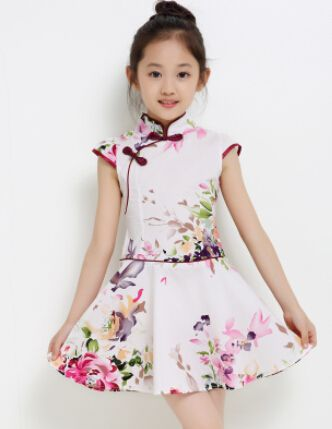 New 2015 Girls Cheongsam Cotton padded Jacket Chinese Style Straight Elegant Dresses Traditional Chinese Garments-in Dresses from Mother & Kids on Aliexpress.com   Alibaba Group