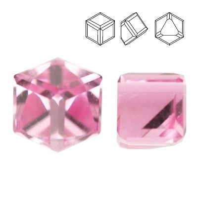 4841 Cube 4mm Light Rose CAVZ  Dimensions: 4mm Colour: Light Rose CAVZ 1 package = 1 piece