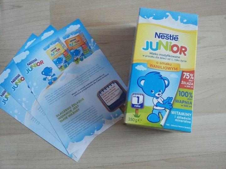 Czy wiecie, że ... na pudełku mleka Nestle Junior umieszczone są ważne informacje takie jak skład czy sposób przygotowania mleka? Ciekawi jesteście składu mleka?