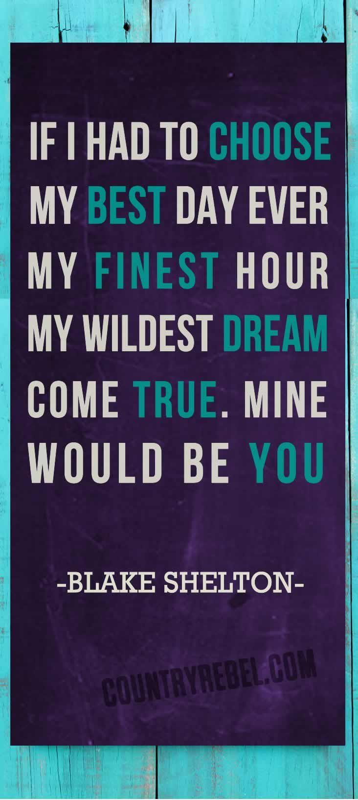 Blake Shelton Lyrics - Songs - Mine Would Be You | Country Rebel Music Videos http://countryrebel.com/blogs/videos/16883015-blake-shelton-mine-would-be-you-video