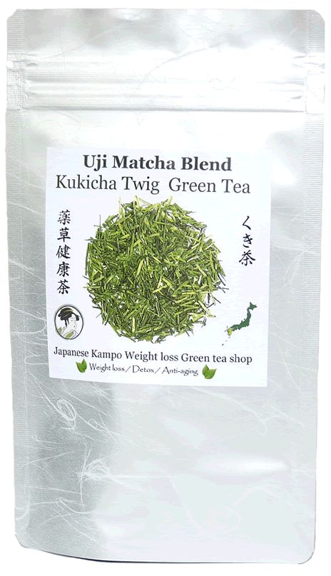Uji Matcha Blend Kukicha twig Japanese green tea - Weight loss Diet ----- From Kyushu Island, Japan We have more Uji Matcha in our blend tea than any other brands. Matcha makes your green tea more Mild with Rich flavor!
