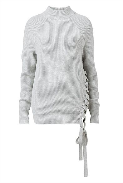 Ciccone Lace Up Knit
