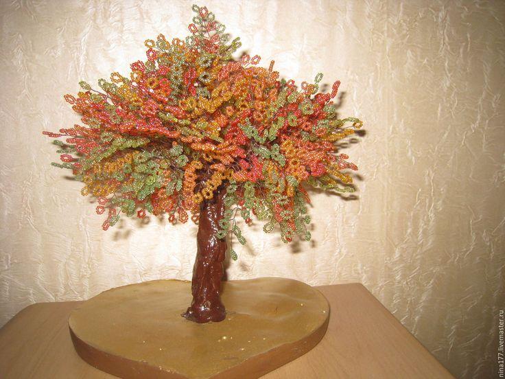 Купить Дерево Желаний - дерево, бисер, подарок, ручная работа, готовая работа, фен-шуй