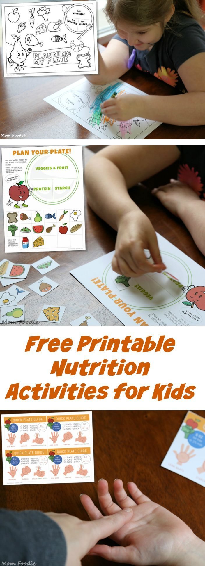 Free Printable Nutrition Activity Sheets for Kids (for 2016 nutrition guidelines)