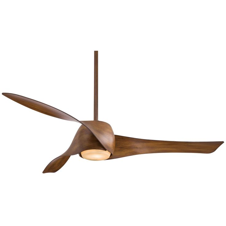 Artemis 58 Inch Ceiling Fan With Three Blades In Distressed Koa Finish Minka Aire Stem Mou
