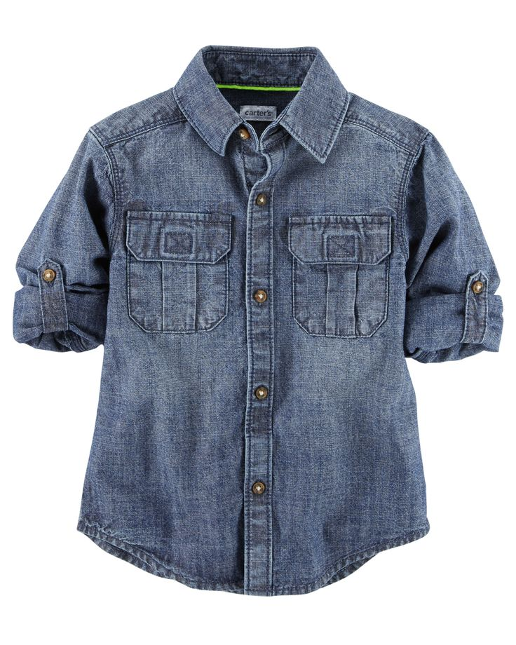 Kid Boy Chambray Button-Front Shirt from Carters.com. Shop clothing & accessories from a trusted name in kids, toddlers, and baby clothes.