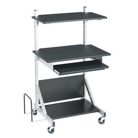 Balt Alekto Compact Sit & Stand Workstation, 30 x 24 x 52, Black/Silver, Multicolor