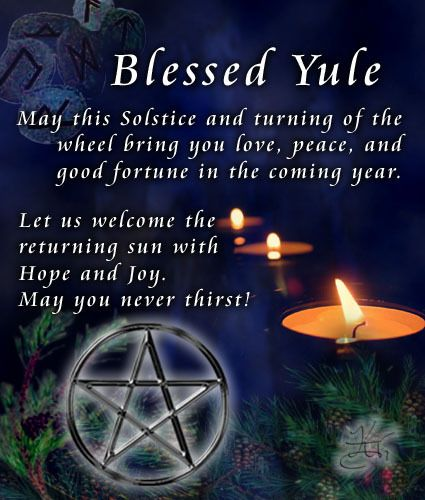 Blessed Yule - We celebrate the returning of the light half of the year.  The Oak King prevails as the Great Mother slumbers to soon begin to slowly awaken and with her awareness comes her bounty.