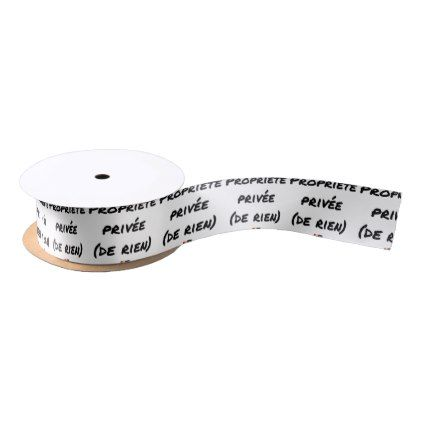 PRIVATE PROPERTY - Word games - François City Satin Ribbon - valentines day gifts love couple gift idea my love valentine