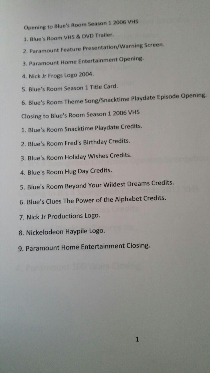 Blue S Room Season 1 Vhs Full Screen Blue S Clues Vhs