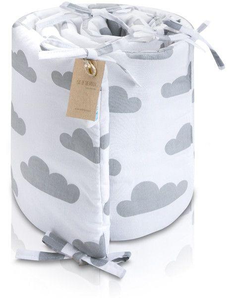 """Ochraniacz Do Łóżeczka """"Cloud&White"""" - CatOfTheMoon - Ochraniacze do łóżeczka"""