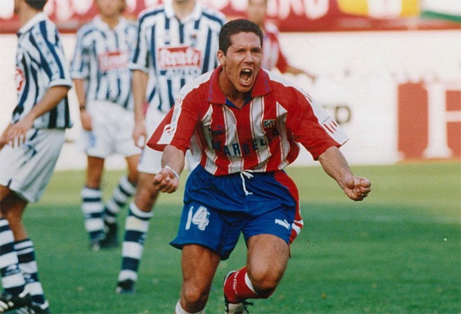 Atleti = dobleti 1996 was an unbelievable year for Atletico Madrid, winning both Spanish Liga and Copa del Rey: El Cholo Simeone was one of the leaders of the pack