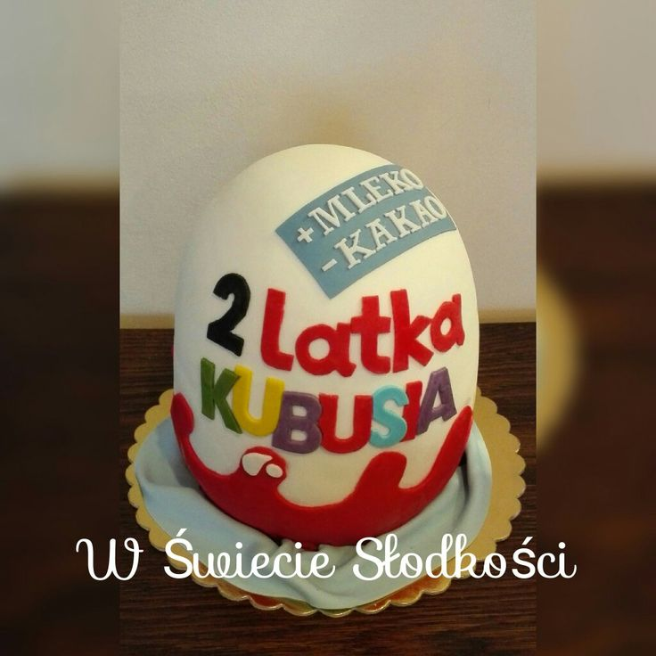 Kinder suprise egg cake