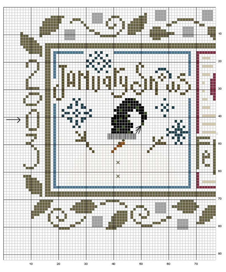 Schema punto croce Bordo-snapper-1