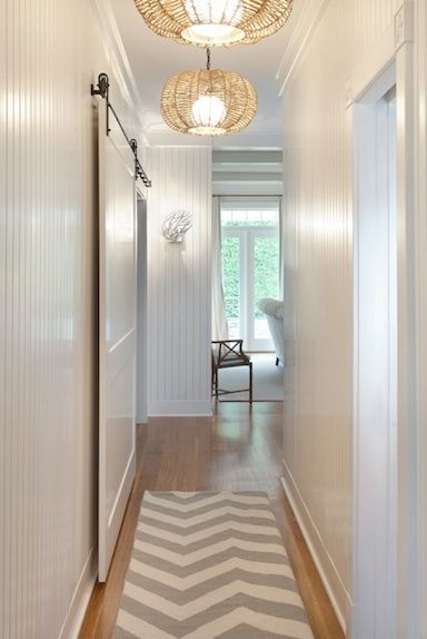 Another gorgeous chevron rug: Decor, Interior, Beach House, Idea, Beadboard Wall, Cottage, Beach Styles