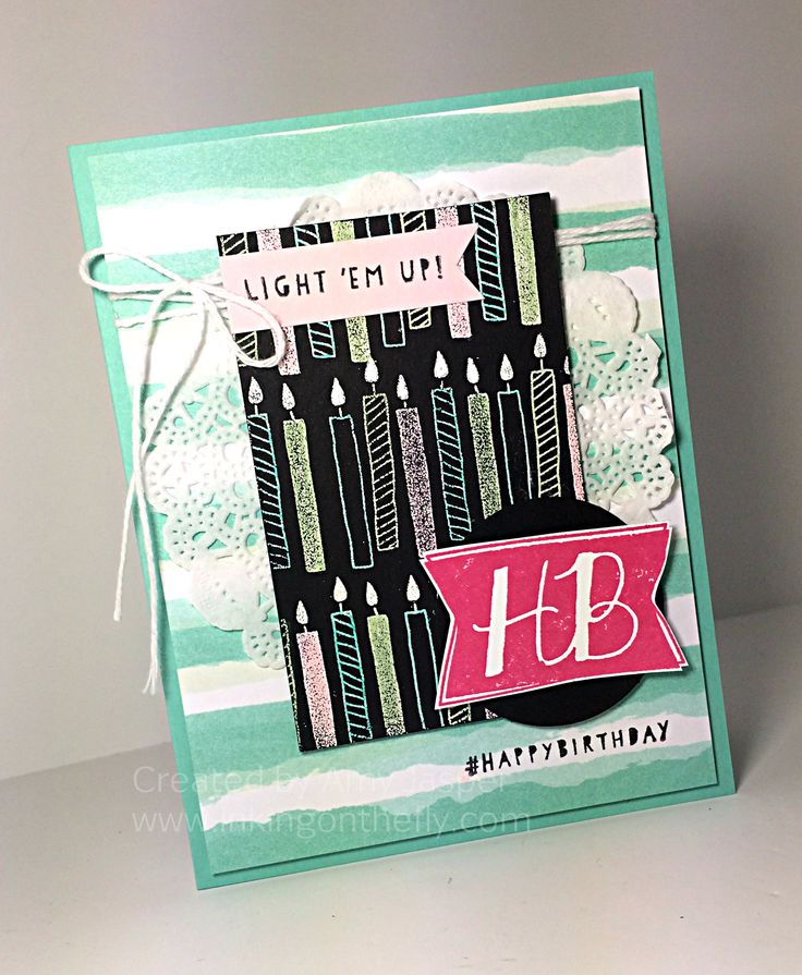 Crafty technique: Blendabilities to colour over White Embossing powder using the Balloon Bash stamp set from Stampin' Up! - card design by Amy Jasper at www.inkingonthefly.com