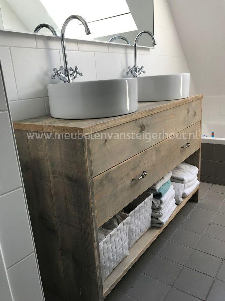 Badkamermeubel steigerhout type 8 1