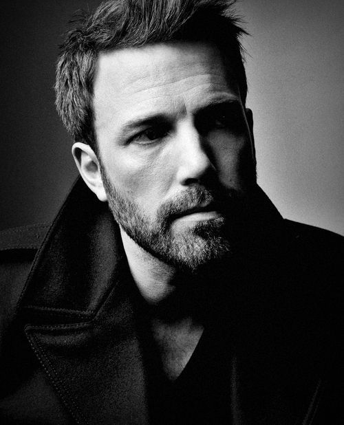 ♂ Black and white man portrait Ben Affleck