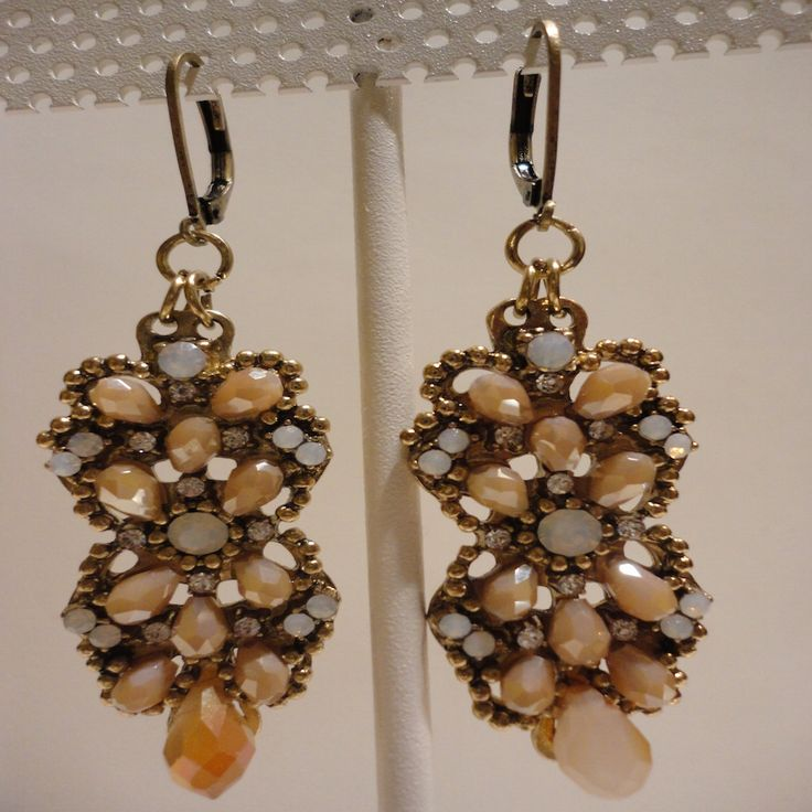 Antique Vintage Strass Drop Earrings