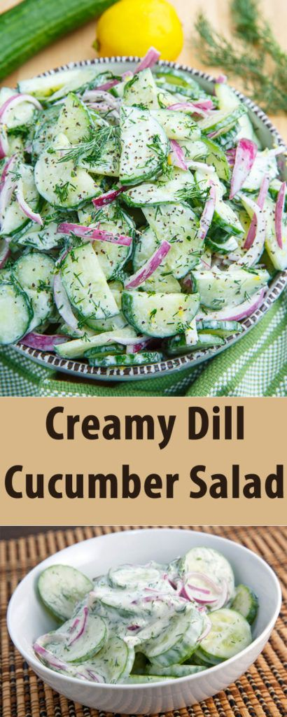Creamy Dill Cucumber Salad Recipe to Stay Cool on Summer