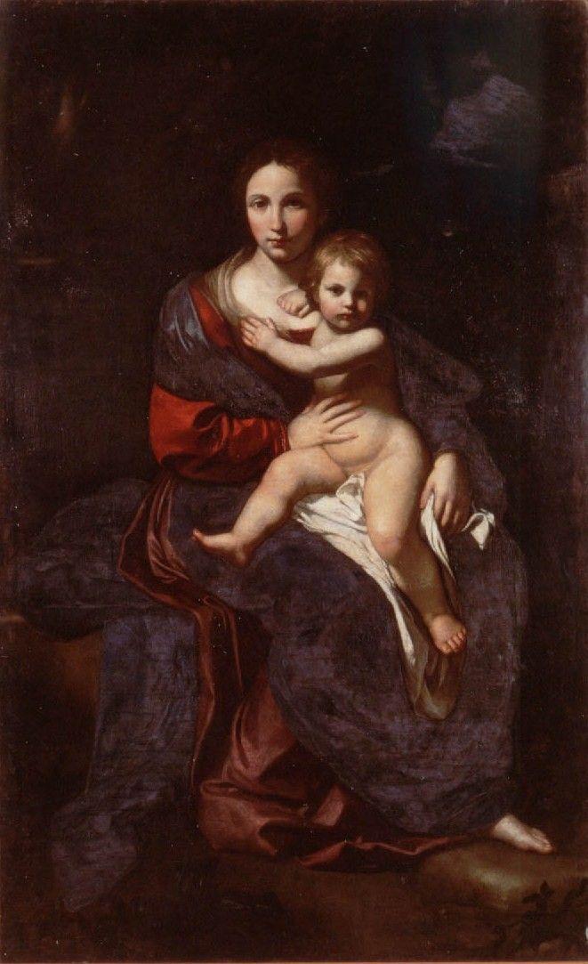 Bartolomeo Cavarozzi (1590–1625),  Virgin and Child,oil,Museo del Colle del Duomo, Viterbo
