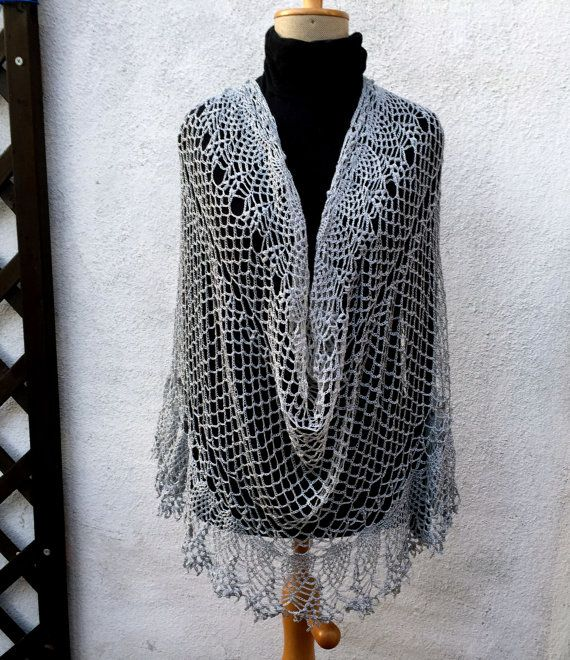 Happy day silver Scarf Poncho by Dom Klary. by domklary on Etsy