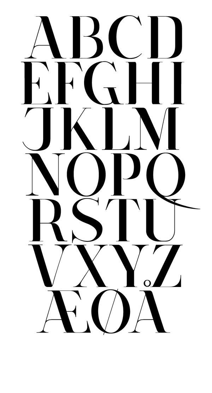 Corydon - Typeface by Nicki van Roon, via Behance