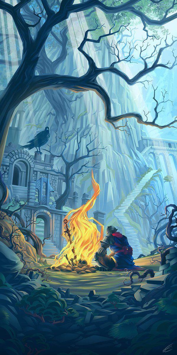 The Art Of Videogame On Twitter Dark Souls Artwork Dark Souls Art Dark Souls Dark souls 3 iphone wallpaper