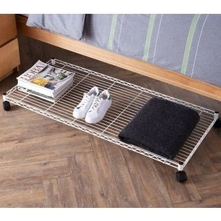 Shop for Suprima Rolling Underbed Storage Shelf - White. Free Shipping on orders over $45 at Overstock.com - Your Online Home Improvement Outlet Store! Get 5% in rewards with Club O! - 22752606