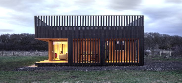 Howe Farm is an air-tight timber-clad farmhouse with a fresh new design