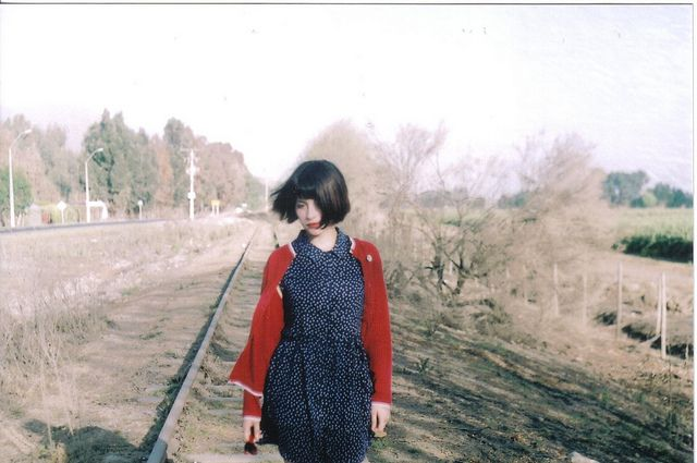 #girl #dress #outfit #polkadots #vintage #shorthair #35mm #film #zenit12xp #fujifilm