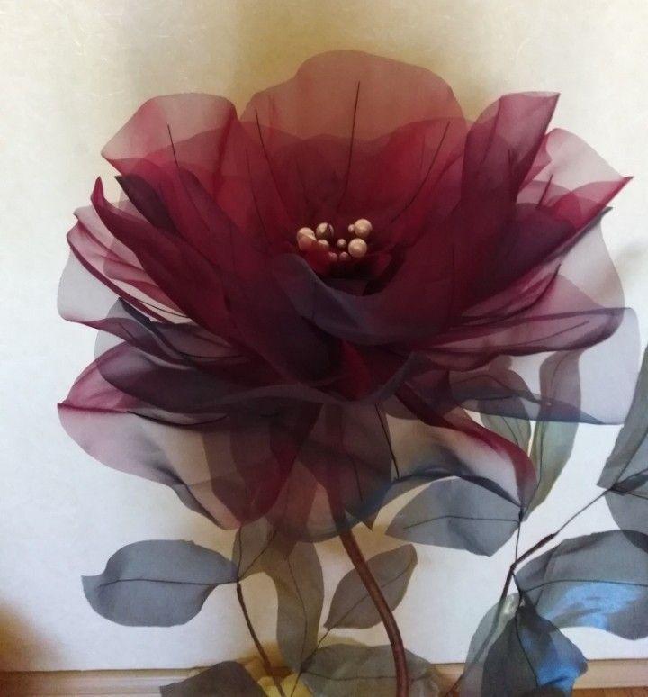 Большие цветы из ткани купить лен вискоза спандекс