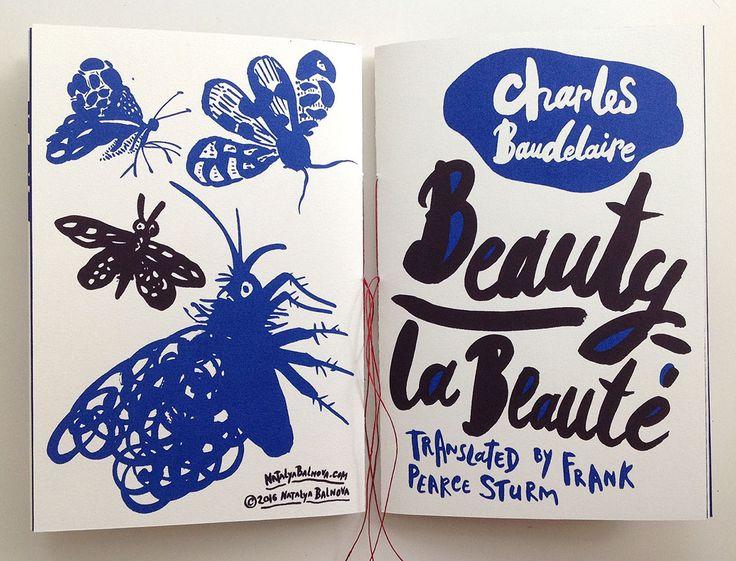 """Charles BaudelaireBeauty La Beauté Carnet de sérigraphie bicolore, format 6 """"x9"""", …  – Nice_3!"""