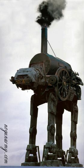 Steampunk AT AT -  love it!
