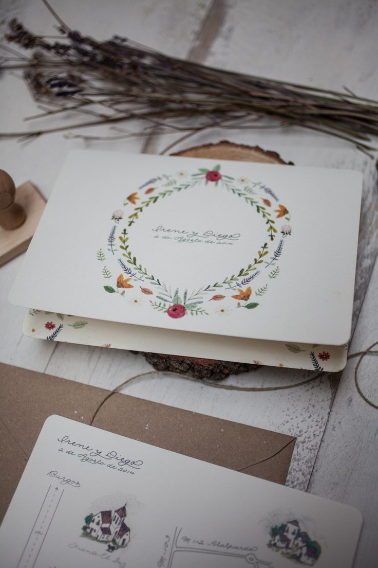 SrtaEdwina   Invitaciones de Boda Ilustradas Irene & Diego