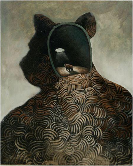 Visual artist Samuli Heimonen Voice of your own. Acrylic and oil on canvas.75cm x 60cm 2010